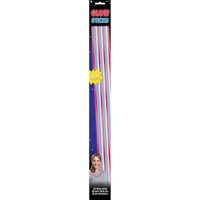 Amscan Patriotic Glow Sticks, 20, Red/White/Blue, 2/Pack, 10 Per Pack (310040)