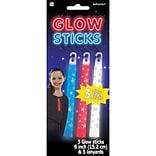 Amscan Printed Glow Sticks, 6, Red/White/Blue, 4/Pack, 3 Per Pack (310041)