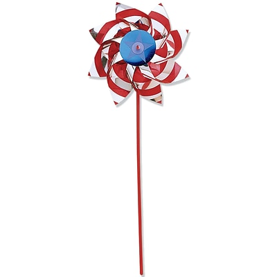 Amscan Foil Patriotic Pinwheel, 18, Red/Silver/Blue, 5/Pack (341062)