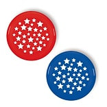 Amscan Patriotic Flying Disc, 9, Blue/Red, 12/Pack (391522)