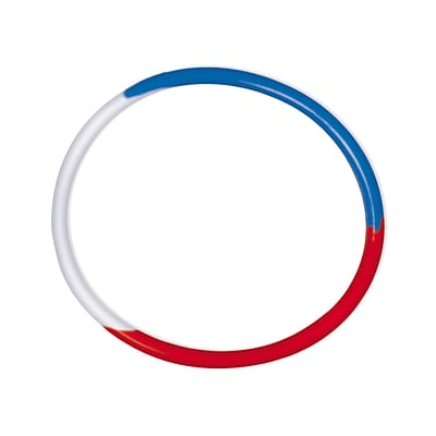 Amscan Rubber Bracelets, 2.5, Red/White/Blue, 4/Pack, 16 Per Pack (399447)