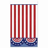 Amscan American Pride Tablecover 54 x 84, 2/Pack, 3 Per Pack (671485)