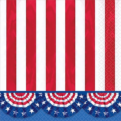 Amscan American Pride Lunch Napkin, 6.5 x 6.5 (711485)