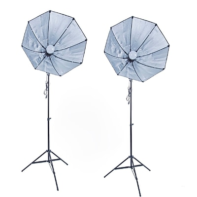 Zuma Softbox Kit; No Bagt 600 Ewatt Dual Octagonal Softbox Kit (Z-SBLEDKIT28-2N)