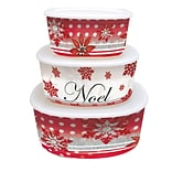 LANG Winter Holiday Nesting Bowls with Lids (2110005)