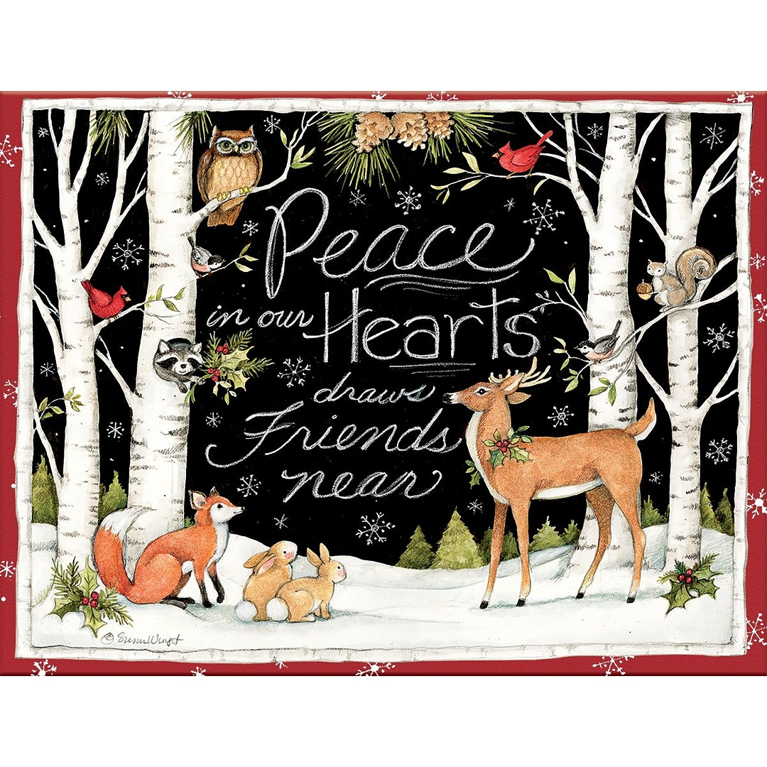 LANG Peace in our Hearts Boxed Christmas Cards (1004777)   Quill.com