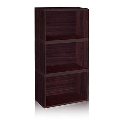 Way Basics Eco Stackable Hillcrest Modular Bookcase and Storage Shelf, Espresso