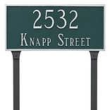 Montague Metal Products Classic Rectangle Estate Two Line Address Plaque; Swedish Iron / Silver