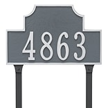Montague Metal Products Beckford Estate One Line Address Plaque; Swedish Iron / Silver