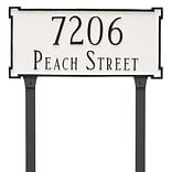 Montague Metal Products New Yorker Estate Two Line  Address Plaque; Gray/White