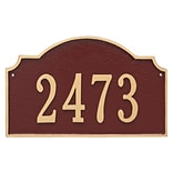 Montague Metal Products Vanderbilt Estate One Line Address Plaque; Gray/Silver