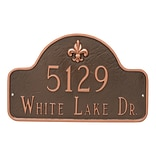 Montague Metal Products Fleur de Lis Lexington Arch Estate Two Line Address Plaque; Sand/Gold
