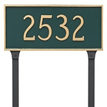 Montague Metal Products Classic Rectangle Estate One Line Address Plaque; White / Gold