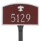 Montague Metal Products Fleur de Lis Prestige Arch Petite Address Plaque; Aged Bronze / Gold