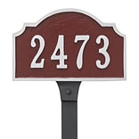 Montague Metal Products Vanderbilt Petite Address Plaque; Sand / Silver