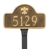 Montague Metal Products Fleur de Lis Lexington Arch Petite Address Plaque; Black / Silver