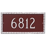 Montague Metal Products Jefferson Rectangle One Line Address Plaque; Black / White