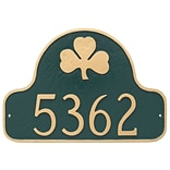 Montague Metal Products Shamrock Arch Address Plaque; Black / Gold