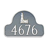Montague Metal Products Lighthouse Arch Address Plaque; Sand / Gold