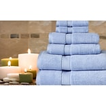 Cathay Home, Inc Luxe Pure Quality Cotton 6 Piece Towel Set; Baby Blue