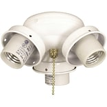 Bala 3-Light Branched Fan Light Kit; White