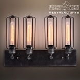 Westmen Lights 4-Light Metal Cage Bath Wall Sconce