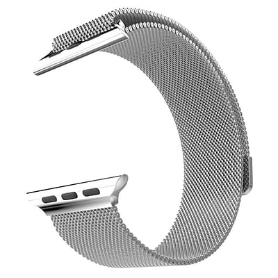 Mgear Accessories Milanese Loop Band; Silver (apple-watch-42 mm-milanese-loop)