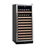 Kingsbottle KBU 100W-SS Stainless Steel, Single Zone Wine Cooler