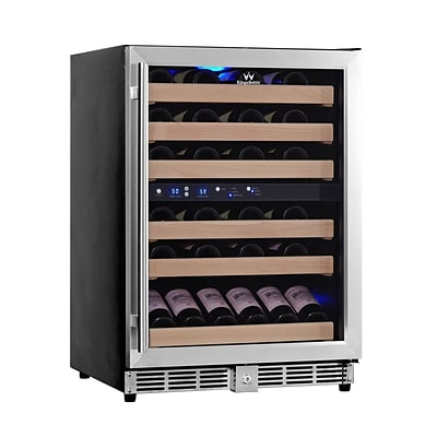Kingsbottle KBU 50D-SS Stainless Steel, Dual Zone Wine Cooler