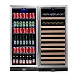 Kingsbottle KBU-100Combo Two Temp Wine and Beverage Combo