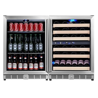 Kingsbottle KBU-50Combo Three Temp Wine and Beverage Combo