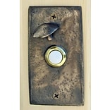 TimberBronze53,LLC Toadstool Rectangular Doorbell Button; Traditional Patina
