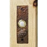 TimberBronze53,LLC Lodgepole Pine Cone Slim Doorbell Button; Basic Patina