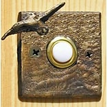 TimberBronze53,LLC Goose Square Doorbell Button; Basic Patina