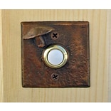 TimberBronze53,LLC Toadstool Square Doorbell Button; Traditional Patina