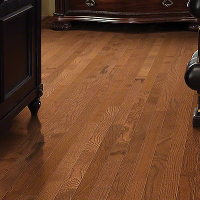 Anderson Floors Bryson Ii 4s Strip 2 1/4'' Solid Oak Hardwood Flooring In Saddle