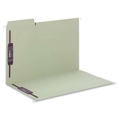 Smead® FasTab 3-Tab Colored Hanging File Folders, 2-Fasteners w/SafeSHIELD, Legal, Moss, 18/Bx, (65170)
