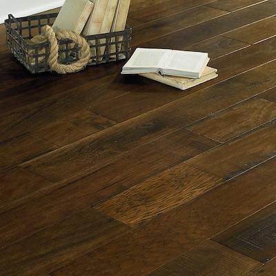 Anderson Floors Antique Walk 6 19/50'' Encore Engineered Hickory Hardwood Flooring In Wagon Wheel