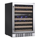 Kingsbottle KBU 145D-RHH Stainless Steel, Dual Zone Wine Cooler