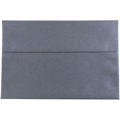 JAM Paper® A8 Invitation Envelopes, 5.5 x 8.125, Stardream Metallic Anthracite Black, 50/pack (9846I)
