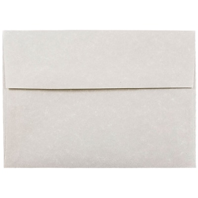 JAM Paper® A7 Invitation Envelopes, 5.25 x 7.25, Parchment Pewter Grey Recycled, 250/box (35061H)