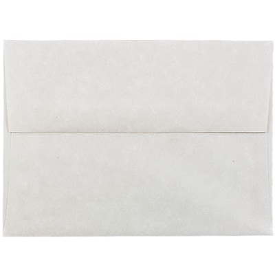 JAM Paper® A6 Invitation Envelopes, 4.75 x 6.5, Parchment Pewter Grey Recycled, 1000/carton (35170B)