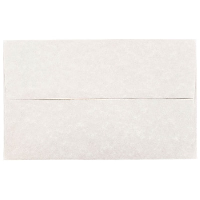 JAM Paper® A10 Invitation Envelopes, 6 x 9.5, Parchment Pewter Grey Recycled, 25/pack (57156)