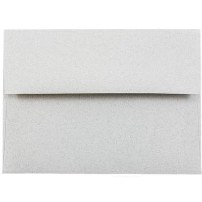 JAM Paper® A6 Invitation Envelopes, 4.75 x 6.5, Granite Grey Recycled, 250/box (71185H)