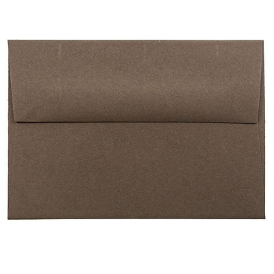 JAM Paper® 4bar A1 Envelopes, 3 5/8 x 5 1/8, Chocolate Brown Recycled, 50/pack (233708I)