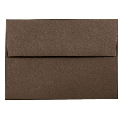 JAM Paper® A6 Invitation Envelopes, 4.75 x 6.5, Chocolate Brown Recycled, 250/box (233710H)