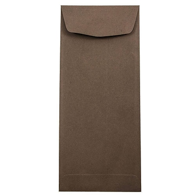 JAM Paper® #11 Policy Envelopes, 4 1/2 x 10 3/8, Chocolate Brown Recycled, 1000/carton (233716B)