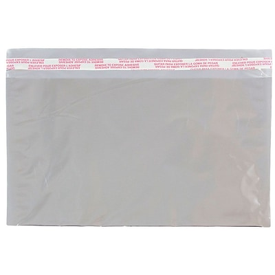 JAM Paper® Foil Envelopes with Self Adhesive Closure, 6 1/8 x 9 1/2, Booklet, Silver, 100/Pack (01323287B)
