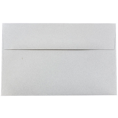 JAM Paper® A10 Invitation Envelopes, 6 x 9.5, Granite Grey Recycled, 250/box (2831490H)