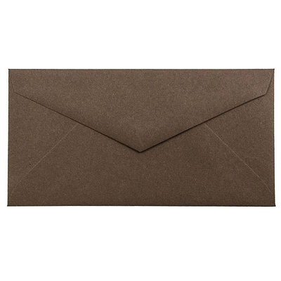 JAM Paper® Monarch Envelopes, 3 7/8 x 7 1/2, Chocolate Brown Recycled, 500/box (34097602H)